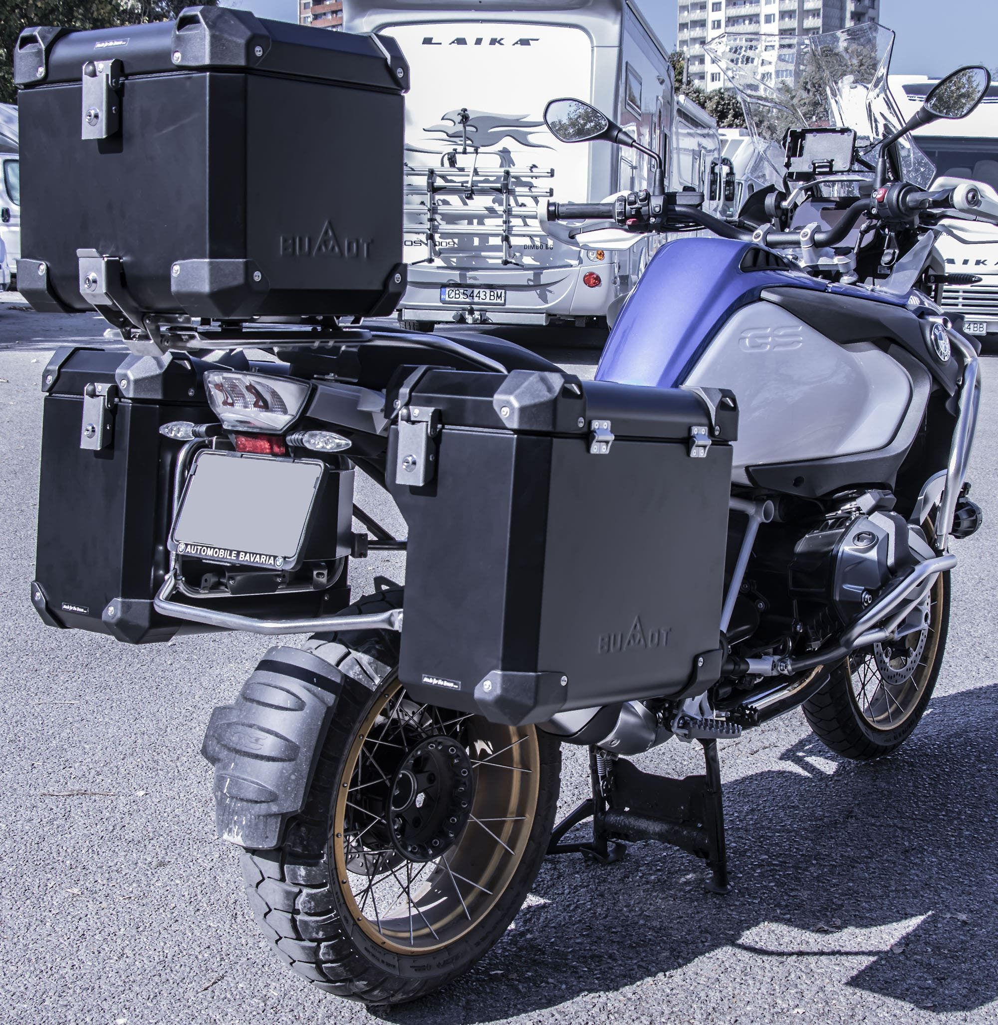 Defender EVO  panniers system for Original BMW racks of 1200/1250 GSA LC
