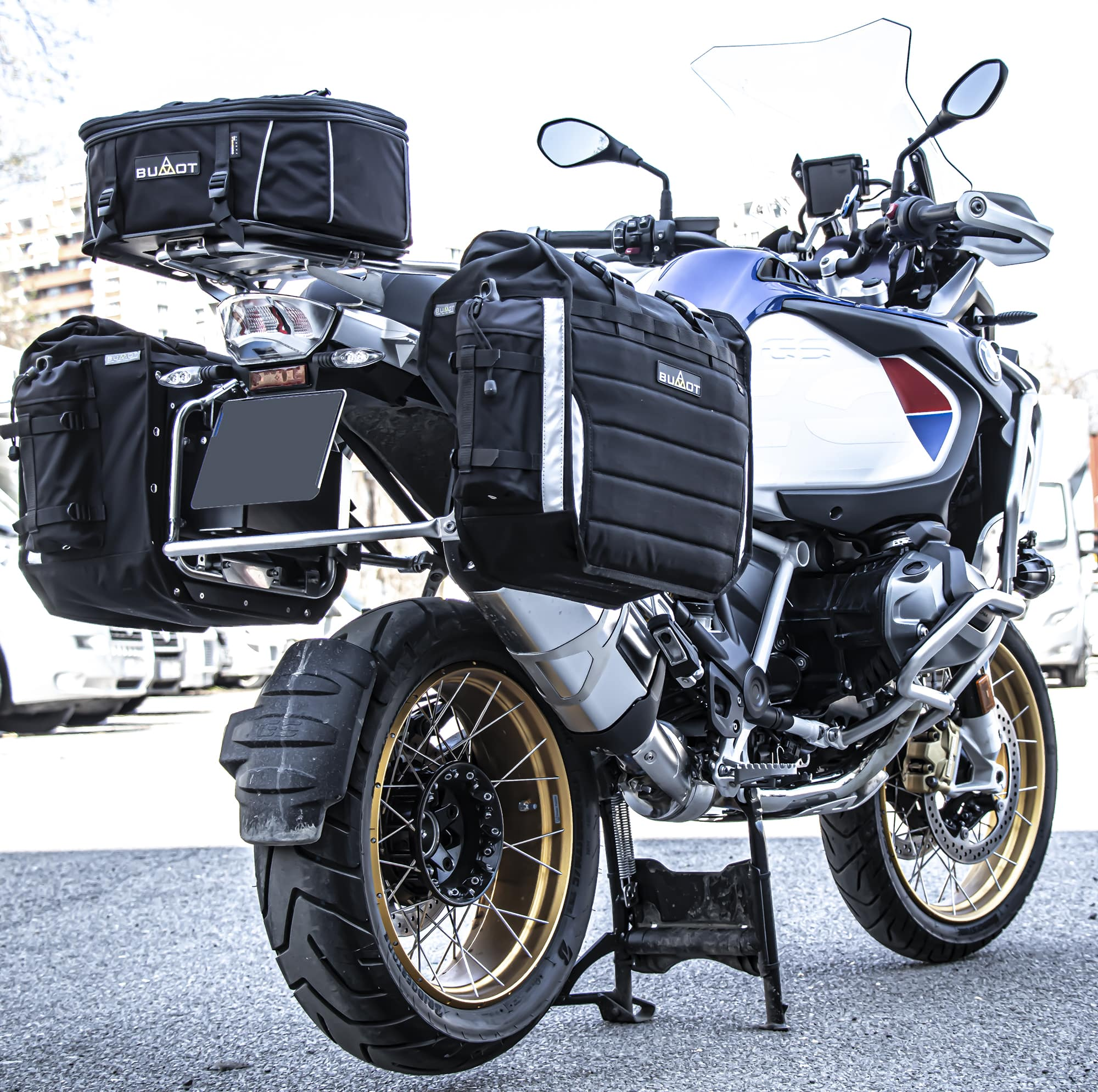 Xtremada soft panniers for Original BMW racks  of 850/1200/1250 GSA